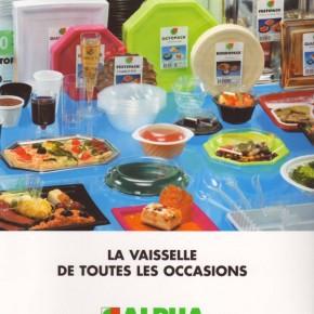 Barquettes et vaisselle usage unique  alimentaire