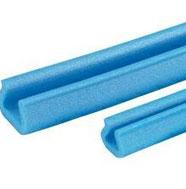 Profilés mousse PE bleu